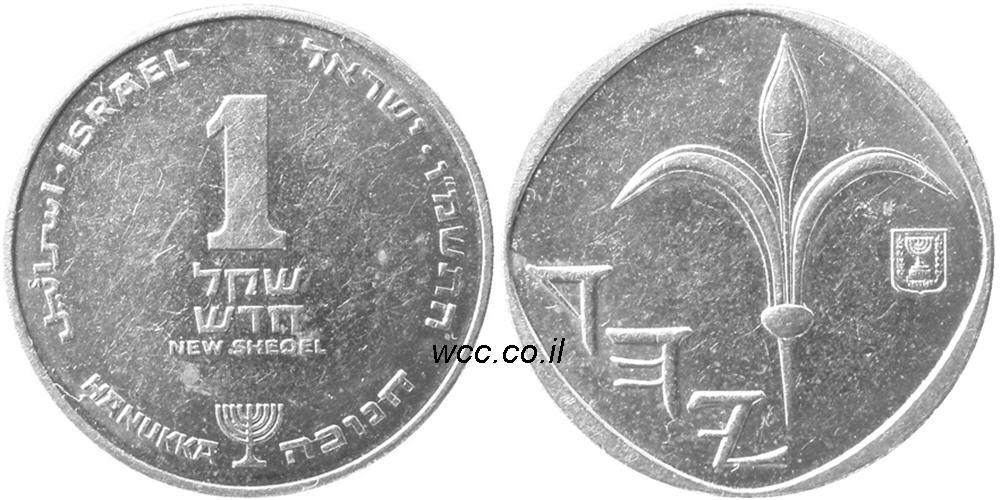 Israel Coin 1 New Shekel Worth June 2020